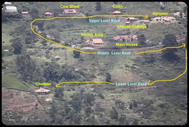 Map of Acres Wild Cheesemaking Farmstay, Coonoor