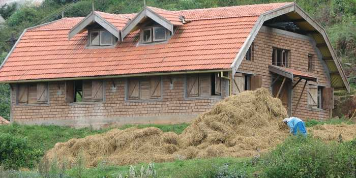 Cow Shed made of Adobe Bricks at Acres Wild Cheesemaking Farmstay, Coonoor