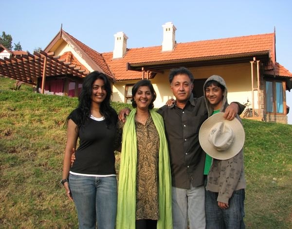 Family at Acres Wild Cheesemaking Farmstay, Coonoor, India